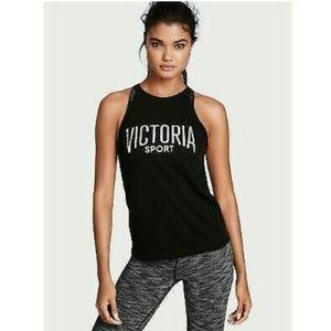 Victoria's Secret Sport Silver Logo Keyhole Back